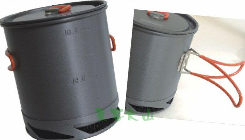 【露營趣】中和 附D型扣 犀牛 RHINO K-22 1公升 超輕鋁合金聚熱強效單鍋 一人鍋 單人鍋 個人餐具 省瓦斯燃料