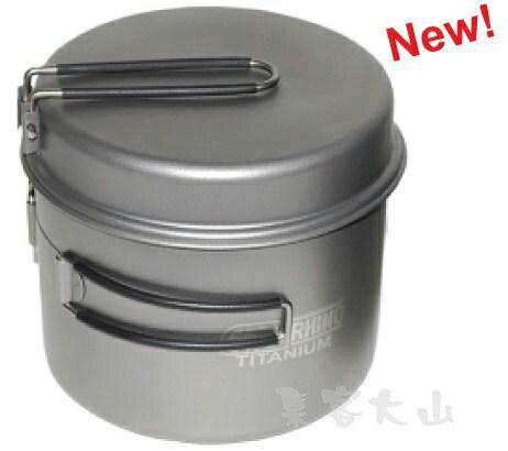 【露營趣】附手電筒 犀牛 RHINO KT-15 超輕鈦合金鍋 鈦鍋 單人鍋 二人鍋 湯鍋 煎盤 平底鍋