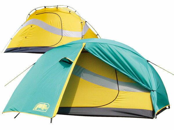【露營趣】中和 送防水地布手電筒 台製 犀牛 RHINO U-2 鋁柱二人輕便帳篷 雙人帳 二人帳