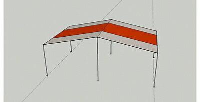 【露營趣】中和 速可搭 450*700cm 銀膠 天幕帳 炊事帳 天幕布 不含營住