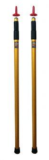 【露營趣】中和 SCOODA 速可搭 台製伸縮鋁管金箍棒 (2支一組)伸縮鋁管 伸縮營柱 天幕帳