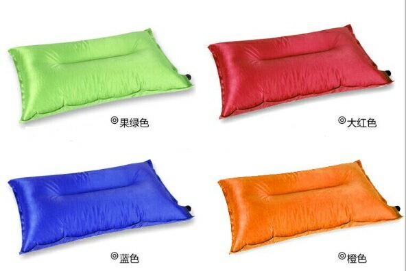 ~露營趣~ 中和 TNR~010 抗撕裂格紋布 自動充氣枕頭 充氣枕頭 露營枕頭 充氣枕