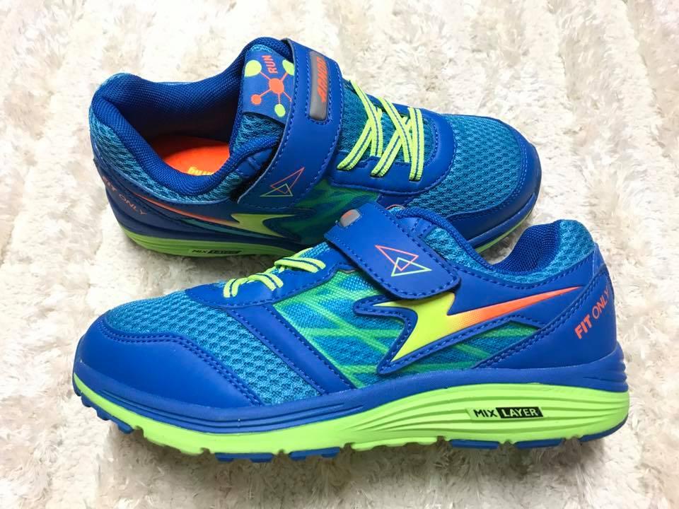 【Jolove】ARNOR阿諾運動童鞋/輕量彈力避震跑鞋68306 海洋藍