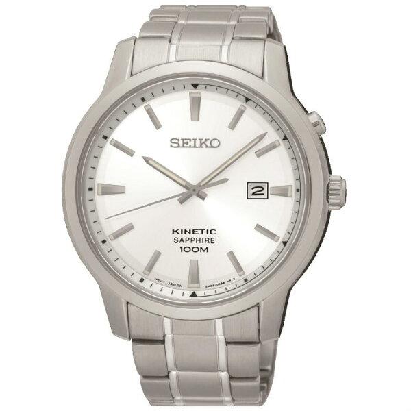 SeikoCS系列5M82-0AX0S(SKA739P1)人動電能簡約日誌型時尚腕錶白面42mm
