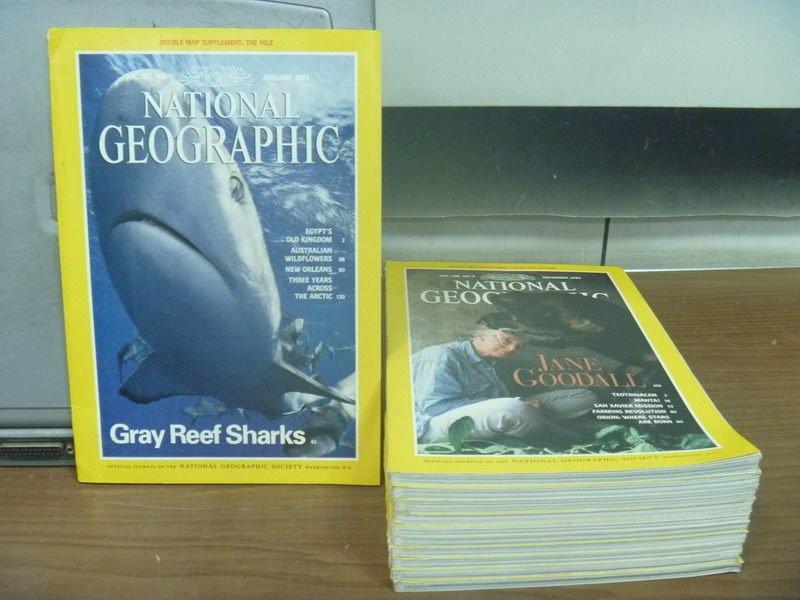 【書寶二手書T5/雜誌期刊_RHL】國家地理雜誌_1995/1~12月缺3月_11本合售_Gary Reef.._英文