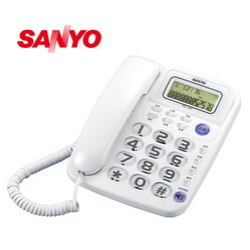 台灣哈理 三洋 SANYO 來電顯示有線電話 TEL-991  白/鐵灰  2色