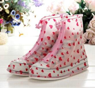 女版 小圓點 雨鞋套 韓版 可愛 時尚 防水 鞋套 日系時尚防滑雨鞋套