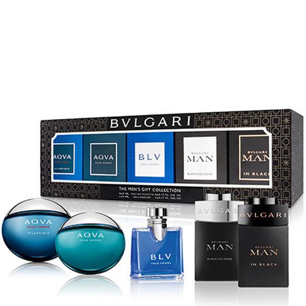 BVLGARI 寶格麗 男小香禮盒 (77107) 5ml*5 勁藍水能量/水能量/藍茶/真我/當代冰海【A005996】《Belle倍莉小舖》