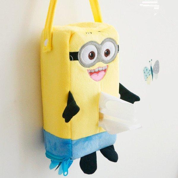 =優生活=卡通神偷奶爸 小小乒 小黃人 香蕉人 可愛小黃人掛式車用面紙套