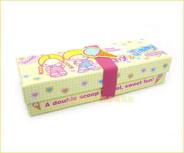 asdfkitty可愛家☆PATTY&JIMMY冰淇淋紙盒附束帶禮物盒收納盒-日本正版商品