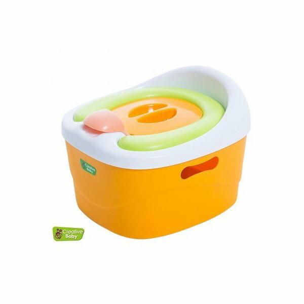 Creative Baby 創寶貝 多功能三合一學習軟墊馬桶 隨機【六甲媽咪】