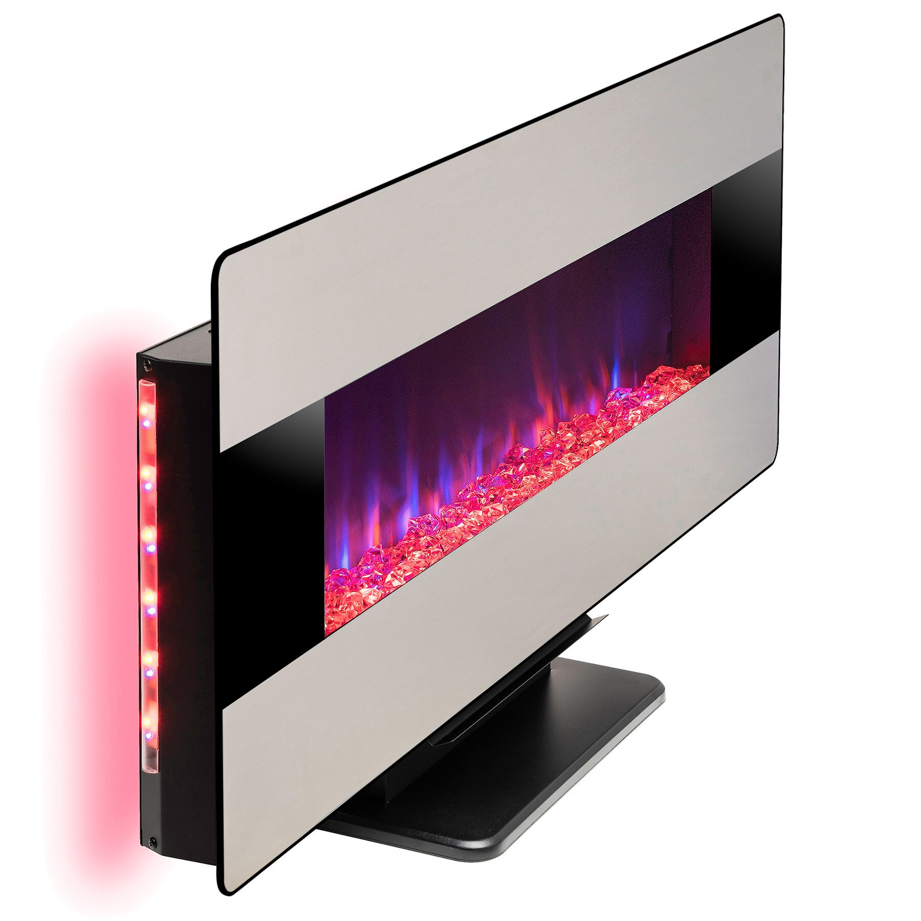 """AKDY 48"""" Freestanding Wall Mount Convertible Electric Fireplace Heater Stove 2"""