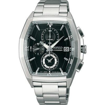 福袋商品 ALBA WIRED 鋼鐵英雄三眼計時腕錶 黑 7T92-X249D 38mm - 限時優惠好康折扣