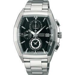 ALBA WIRED 鋼鐵英雄三眼計時腕錶 黑 7T92-X249D 38mm