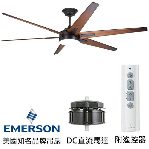 [topfan]EmersonRahEco72英吋DC直流馬達吊扇吊扇附LED燈(CF915W72ORB)油銅色(適用於110V電壓)
