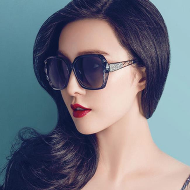 50%OFF【J021165GLS】2017新款時尚冰冰款太陽鏡 潮流百搭墨鏡 女士歐美大框太陽眼鏡