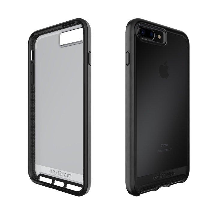 Tech21 英國超衝擊 Evo Elite iPhone 7/7 Plus 防撞軟質保護殼 - 透黑