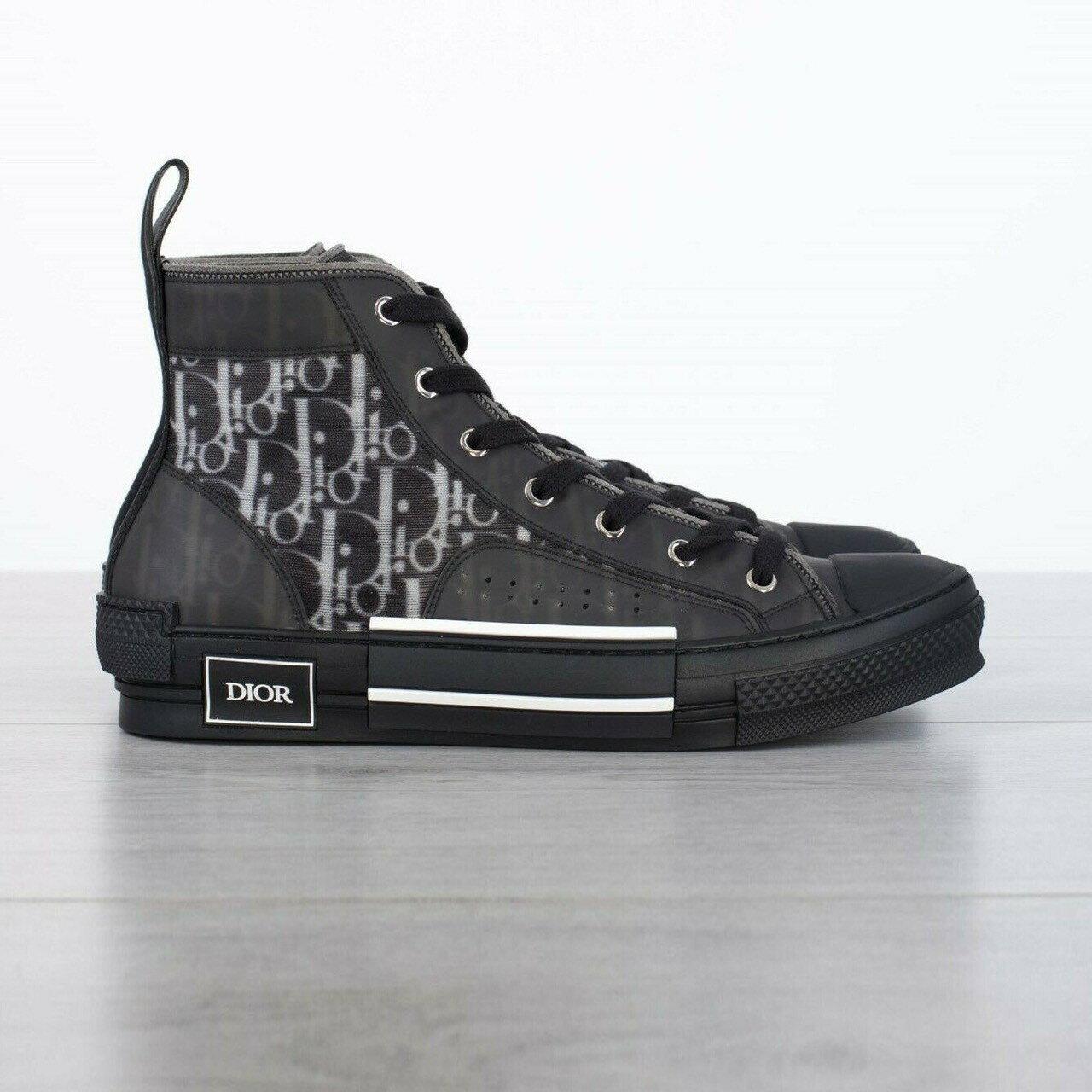 DIOR 黑色B23老花高筒鞋 尺寸39 39.5 40 40.5 41 41.5 42 42.5 折扣