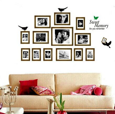 相框照片牆貼 客廳電視沙發背景牆壁貼紙臥室床頭照片貼畫 ~no~23278048893~