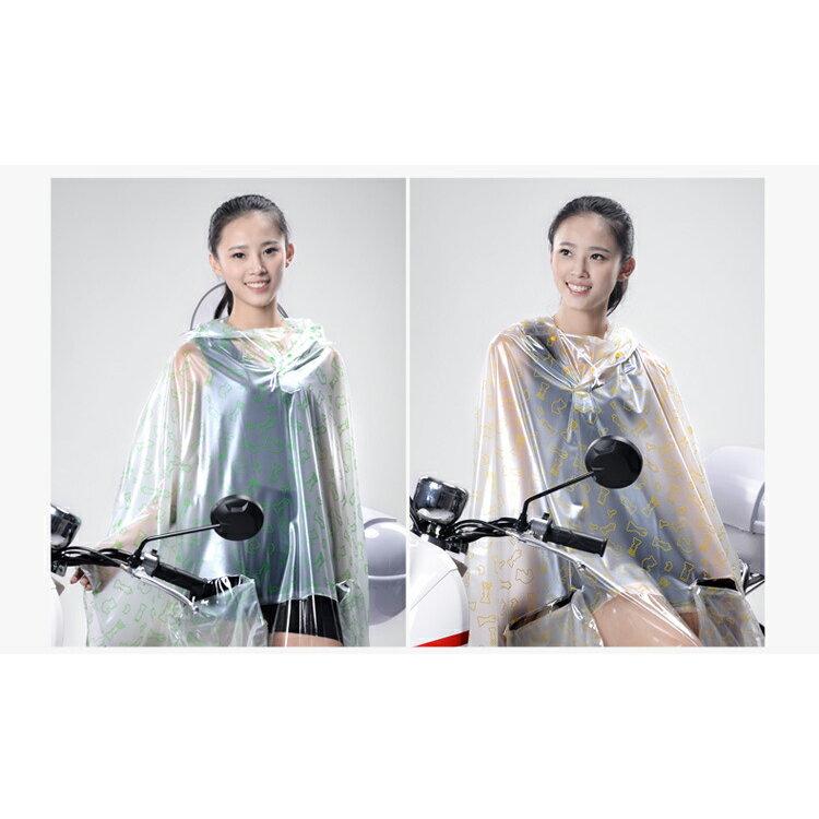 雨衣 印花透明鏡套成人雨衣/摩托車雨衣【EL0007】 BOBI  10/06 2