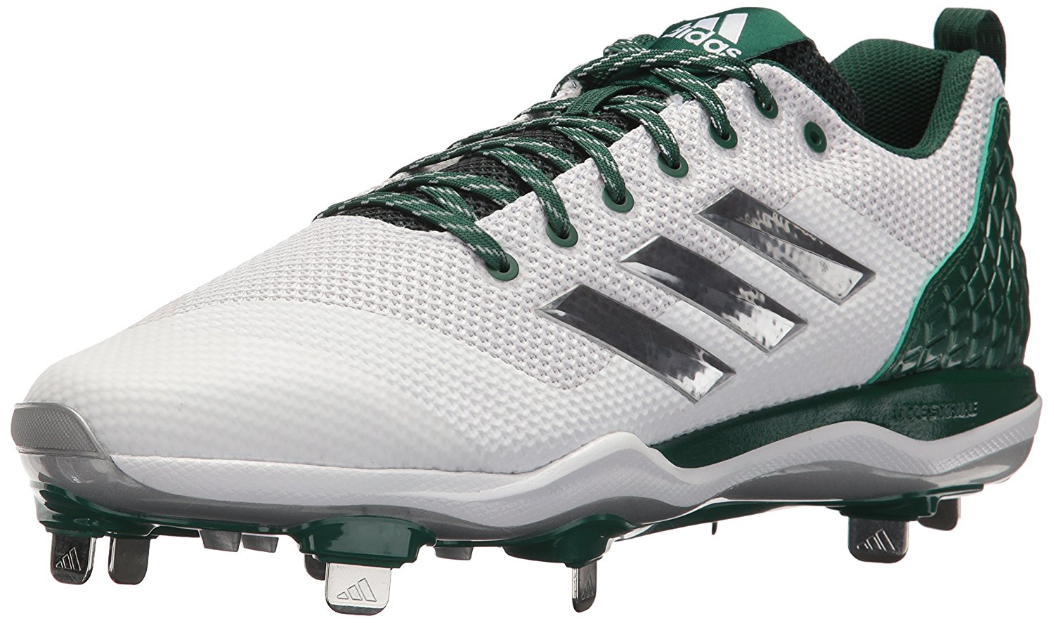 03aba958a PairMySole  Adidas Mens Poweralley 5 Fabric Low Top Lace Up Baseball ...