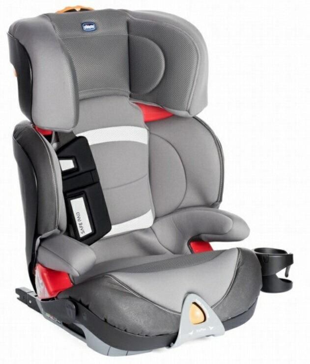 【淘氣寶寶】義大利Chicco Oasys2-3 FixPlus 安全汽座(未來銀) 義大利原裝進口IsoFix【公司貨】