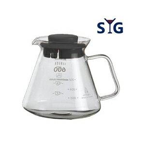 【SYG】精緻耐熱花茶咖啡壺 BHG605R-黑蓋