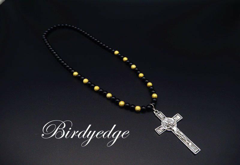 BIRDYEDGE 全球限量款 耶穌十字 高磅數 項鍊 聖母 耶穌 十字 珠項鍊 免運優惠中