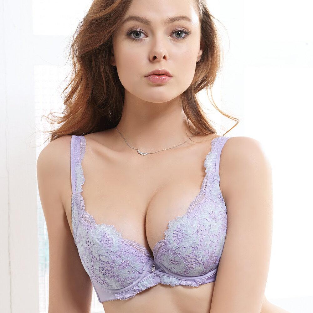 【Favori】冰絲 花語冰沁E罩杯內衣 (水紫) 2