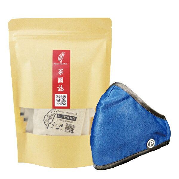PYX 品業興 P輕薄型口罩 -藍鵲紋+茶圖誌茶包組