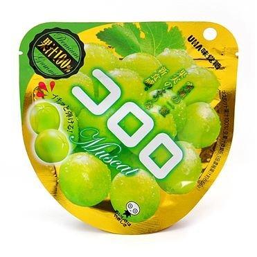 【清倉特賣】UHA味覺糖100%果汁白葡萄軟糖 40g賞味期限 :?2017/08/11