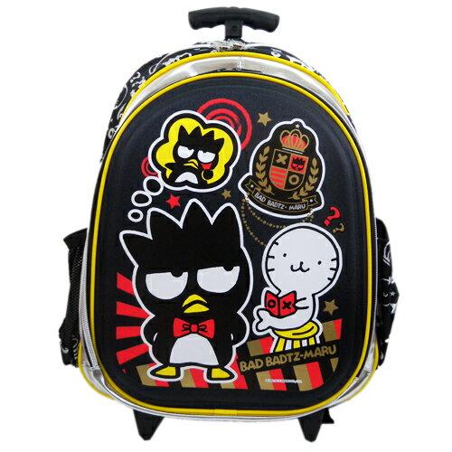 【真愛日本】15071500010拉桿後背包-XO徽章銀黑 三麗鷗家族 酷企鵝 背包 書包