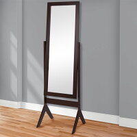 Best Choice Products Cheval Floor Mirror Bedroom Home Furniture- Espresso Brown