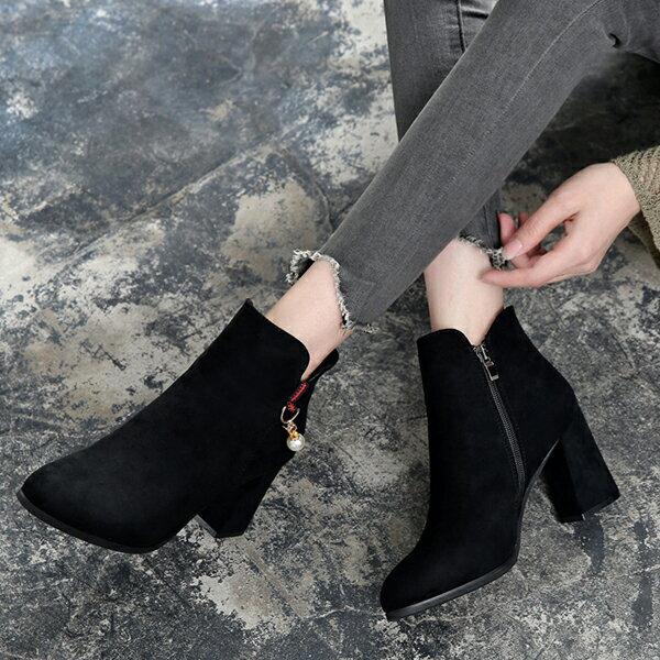 英倫風都會圓頭短靴