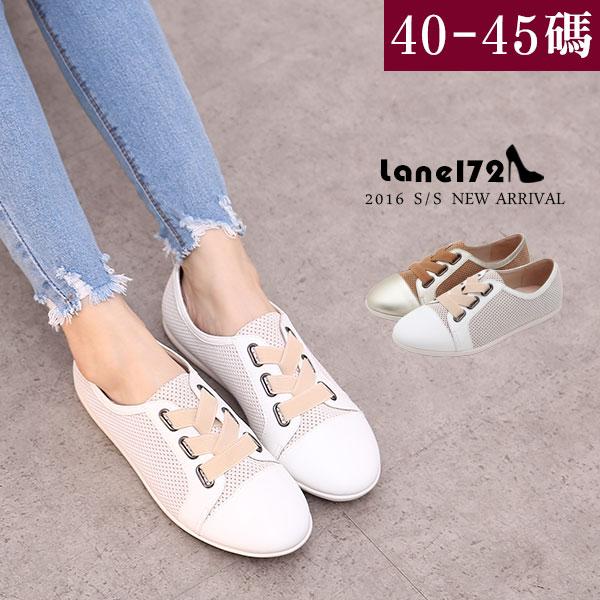 大 女鞋~真皮鬆緊 平底鞋/休閒鞋40~45碼~BD15008❤172巷鞋舖~