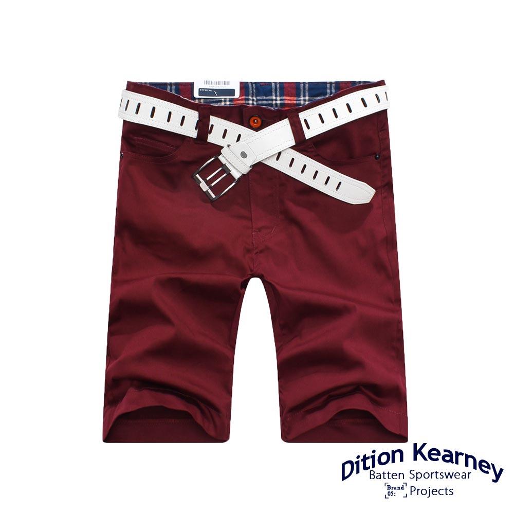 DITION 黑色卯釘格紋休閒短褲-共六色 有大尺碼 4