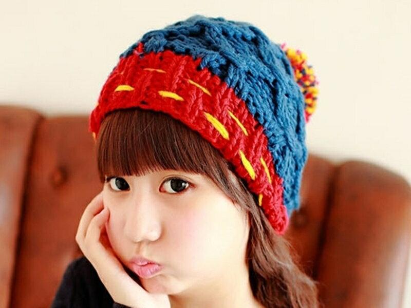 ~316小舖~~YB19~ 新潮流百搭草莓球球保暖帽子~單件價  草莓帽子  球球帽子