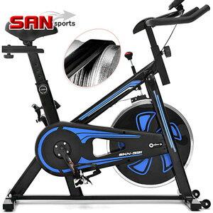 【SAN SPORTS】勇士競速飛輪車(皮帶傳動)飛輪健身車.公路車自行車訓練機台.動感單車腳踏車美腿機.運動健身器材.推薦哪裡買ptt  B002-930