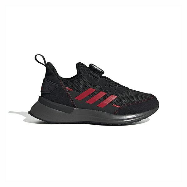 【ADIDAS】愛迪達RapidaRun BOA K 童鞋 運動鞋 跑鞋 旋鈕式鞋帶 黑紅 中童 -FU7314