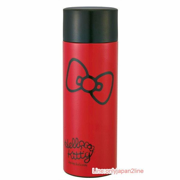 【真愛日本】17040100015 超輕量保溫冷水壺350ml-KT紅結紅 三麗鷗 Hello Kitty 凱蒂貓 水壺 茶壺 水瓶