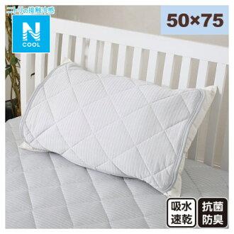 接觸涼感 枕頭保潔墊 50×75 N COOL T BORDER GY 17 NITORI宜得利家居