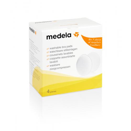 瑞士【Medela 美樂】可洗式防溢乳墊(4入)
