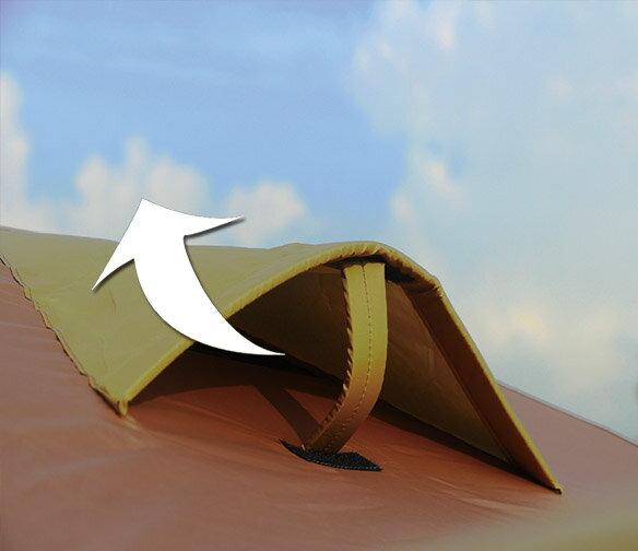 野樂全適能氣候帳 四面門可全開 四邊都有大型延伸屋簷  一房一廳 客廳帳 露營 戶外ARC-642 野樂 Camping Ace 2