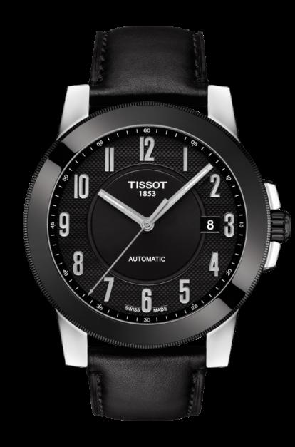 TISSOT天梭錶 T0984072605200 GENTLEMAN 系列經典機械腕錶/黑面44mm