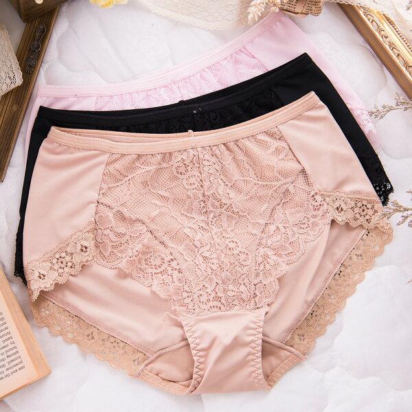 shianey席艾妮:女性蕾絲高腰褲雕花蕾絲台灣製造No.8836-席艾妮SHIANEY