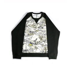 【KENZO】塗鴉長袖上衣(米色) F655SW0864CI 01