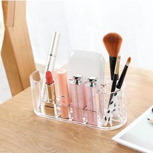 美麗大街【BF271E10E856】透明亞克力化妝盒桌面整理盒梳妝台9格口紅化妝品收納盒