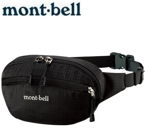 Mont-Bell 休閒腰包/旅行腰包 Delta gusset pouch S 1123763 BK黑色