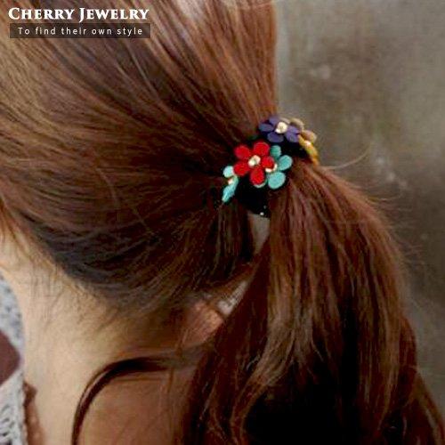 繽紛小花造型髮束10240【櫻桃飾品】【10240】