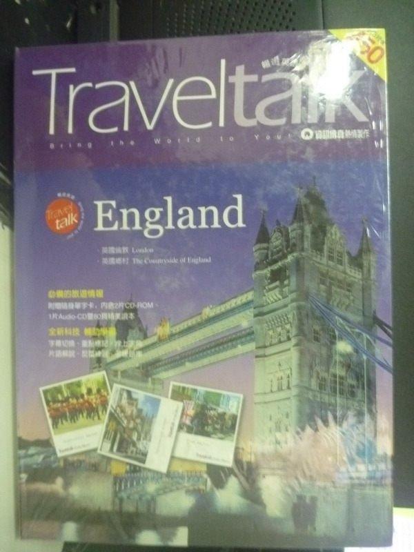 【書寶二手書T2/語言學習_YGZ】Travet talk England英國倫敦_鄭洵錚_未拆封.附光碟